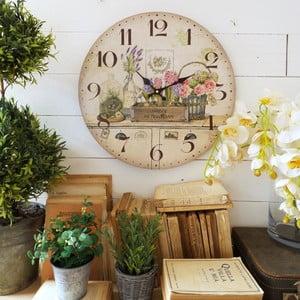Zegar ścienny Orchidea Flowers