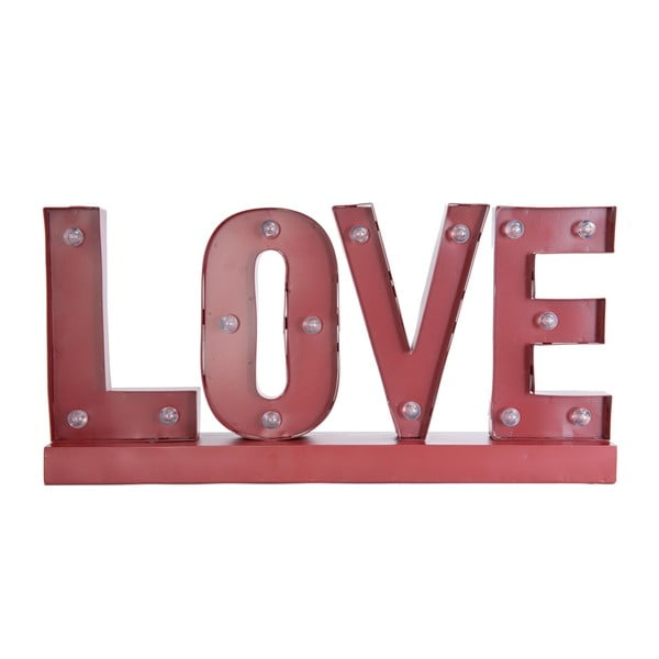 Napis świecący LED Clayre & Eef Love, 60 cm