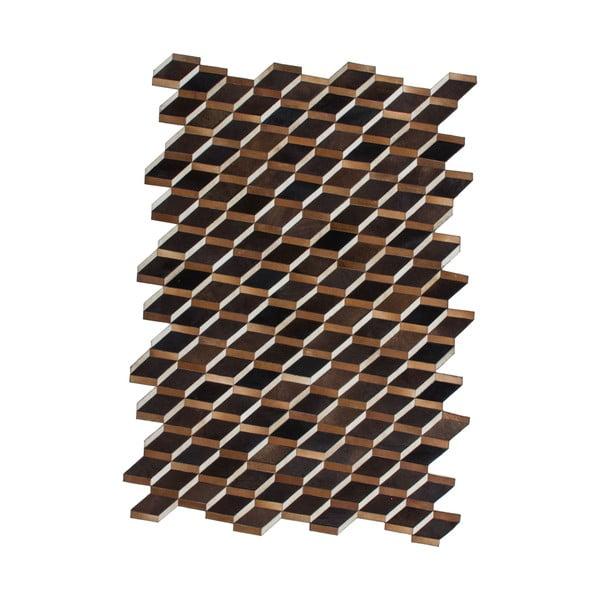 Dywan skórzany Revolution Brown, 90x144 cm