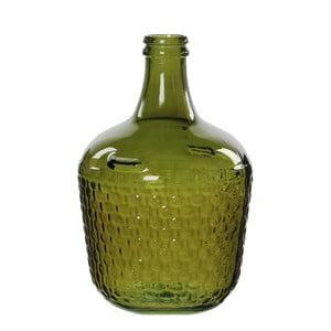 Zielony świecznik szklany Mica Diego, 42x27cm