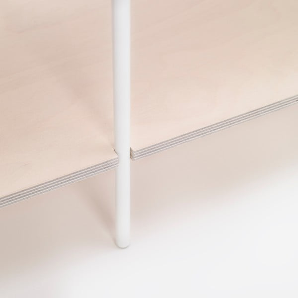 Biblioteczka One - biała, 77x80 cm