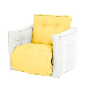Żółty dziecięcy fotel rozkładany Karup Mini Dice