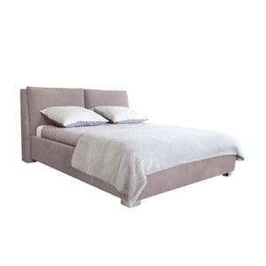 Jasnoróżowe łóżko 2-osobowe Mazzini Beds Vicky, 140x200cm