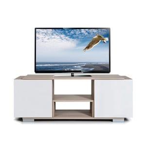 Stolik telewizyjny Pera, biały/dąb cordoba
