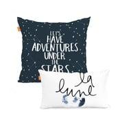 Zestaw 2 poszewek na poduszki Blanc Constellation