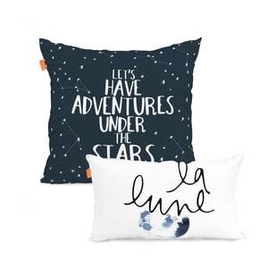 Zestaw 2 bawełnianych poszewek na poduszki Blanc Constellation, 50x50cm