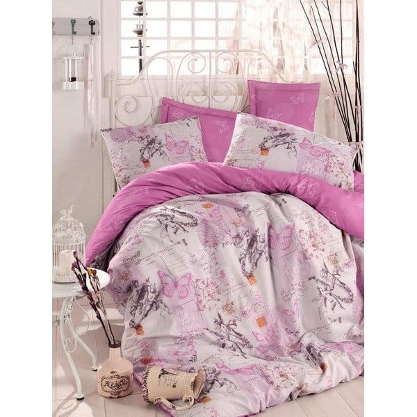 Fioletowa narzuta na łóżko Love Colors Helen, 200 x 240 cm