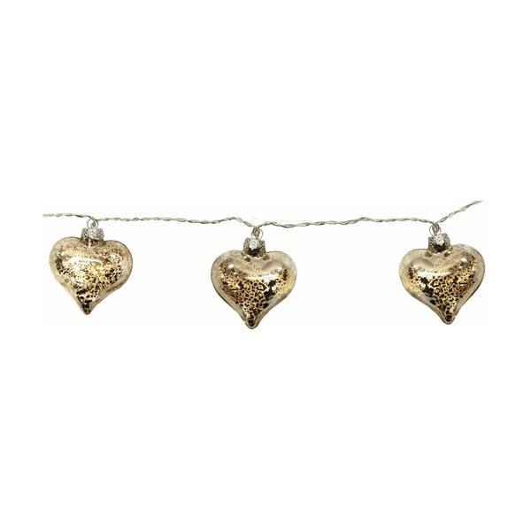 Świecący łańcuch Argent Heart