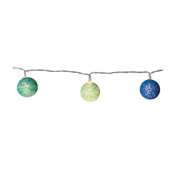Niebiesko-zielona girlanda świetlna LED Best Season Crystal, 10 kul