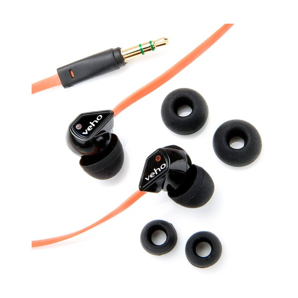 Pomarańczowe słuchawki douszne Veho Z1