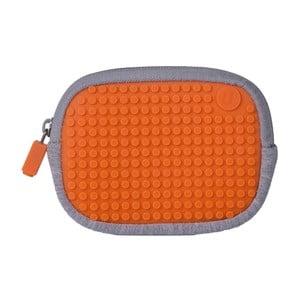 Uniwersalna kieszonka pikselowa, szara/pomarańczowa