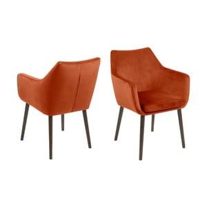 Pomarańczowy fotel Actona Nora