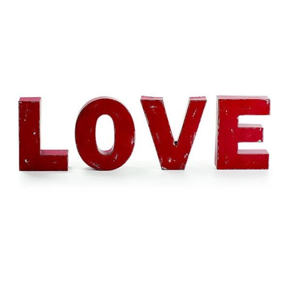 Zestaw 4 dekoracyjnych liter Love
