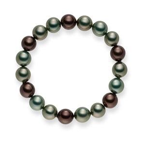 Bransoletka z pereł Mystic Green Grey, 20 cm