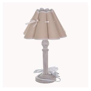 Lampa stołowa z kremowym abażurem Dino Bianchi, wysokość40cm