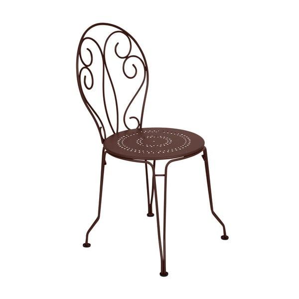 Brązowe krzesło metalowe Fermob Montmartre