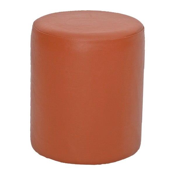 Pomarańczowy puf okrągły Rodhio