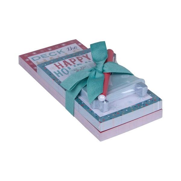 Komplet bloczków i długopisów Tri-Coastal Design Happy Holidays