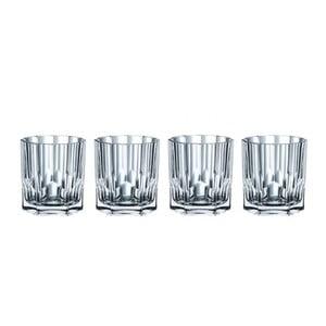 Komplet 4 szklanek do whisky ze szkła kryształowego Nachtmann Aspen, 324 ml