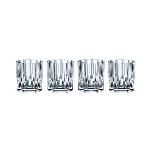 Zestaw 4 szklanek do whisky ze szkła kryształowego Nachtmann Aspen, 324 ml