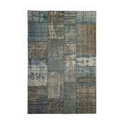 Dywan wełniany Allmode Patchwork Blue, 150x80 cm
