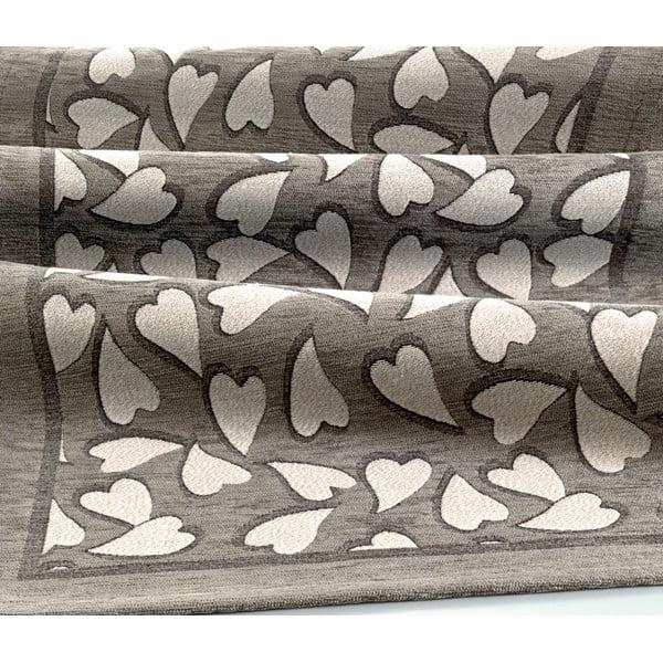 Szaro-brązowy wysoce wytrzymały chodnik kuchenny Webtapetti Corazon Fango, 55x140 cm