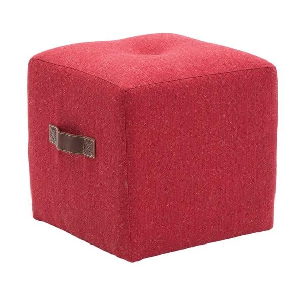 Puf Quadro, czerwony