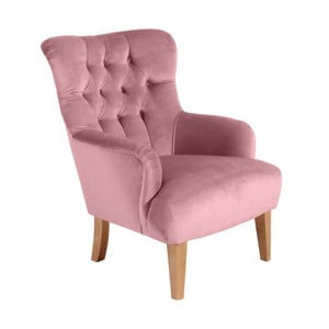 Różowy fotel Max Winzer Brandon Suede