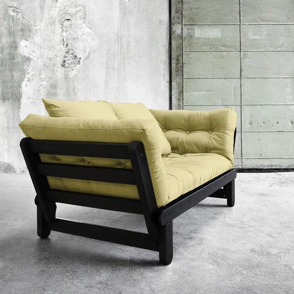 Sofa rozkładana Beat Black/Avocado Green