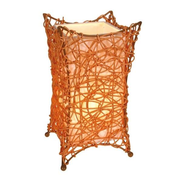 Pomarańczowa lampa stołowa Naeve Korbchen