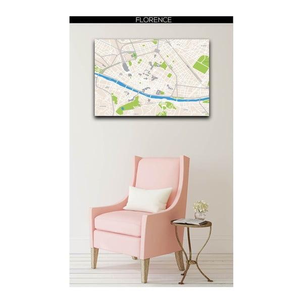 Obraz Homemania Maps Florence, 70x100 cm