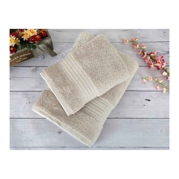 Beżowy ręcznik Irya Home Egyptian Cotton, 70x130 cm