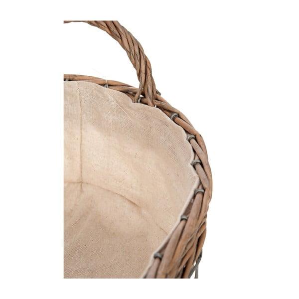 Zestaw 3 owalnych koszyków Reed