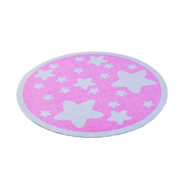 Różowy dywan dziecięcy Hanse Home Gwiazdy, ⌀100cm