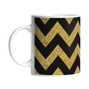 Kubek Black Shake Gold Zig Zag, 330 ml