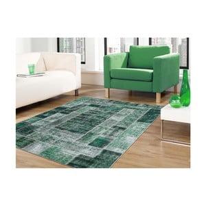 Dywan plamoodporny Floorita Montage Green, 80x150 cm