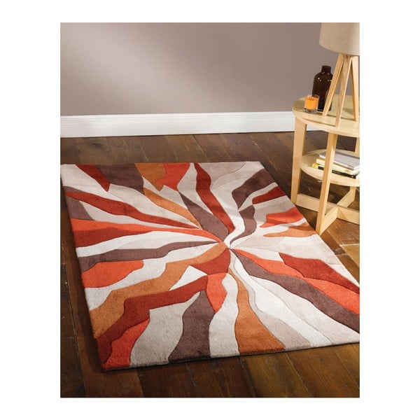 Dywan Splinter Orange, 120x170 cm