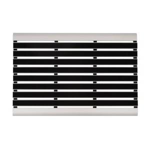 Czarno-biała wycieraczka Hanse Home Alu, 47x75 cm