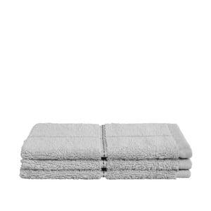 Zestaw 3 szarych ręczników z organicznej bawełny Seahorse,160x210cm