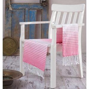 Różowy ręcznik Hammam Gokkusagi, 100x180cm