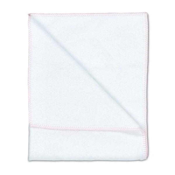 Zestaw 2 ręczników Whyte 100x150 cm, biało-różowy