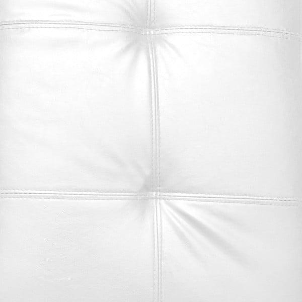 Biały puf ze schowkiem Evergreen House Multi, 84x49cm