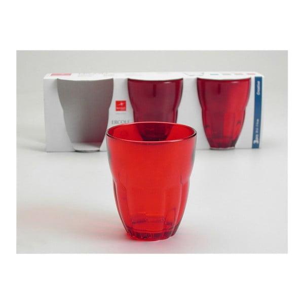 Zestaw szklanek Ercole Red, 3 szt.
