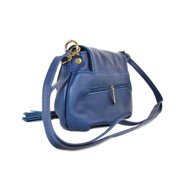 Skórzana torebka Clementis Blue