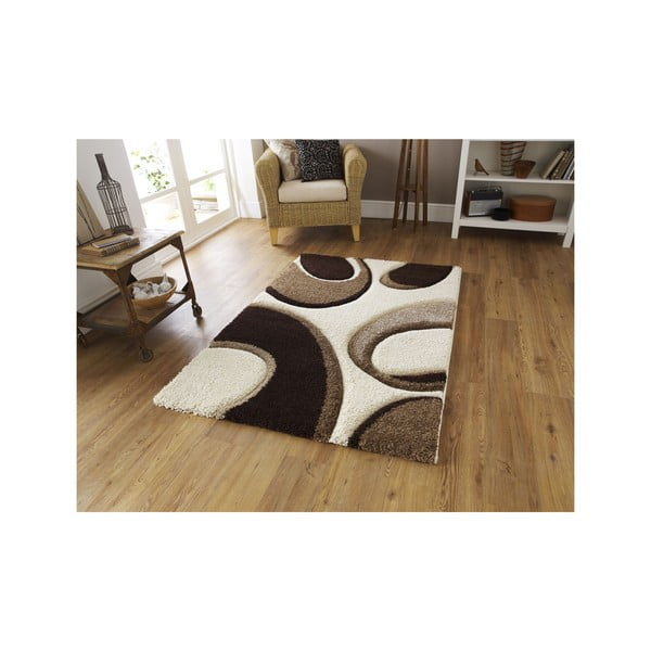 Dywan Fashion Ivory Brown, 80x150 cm
