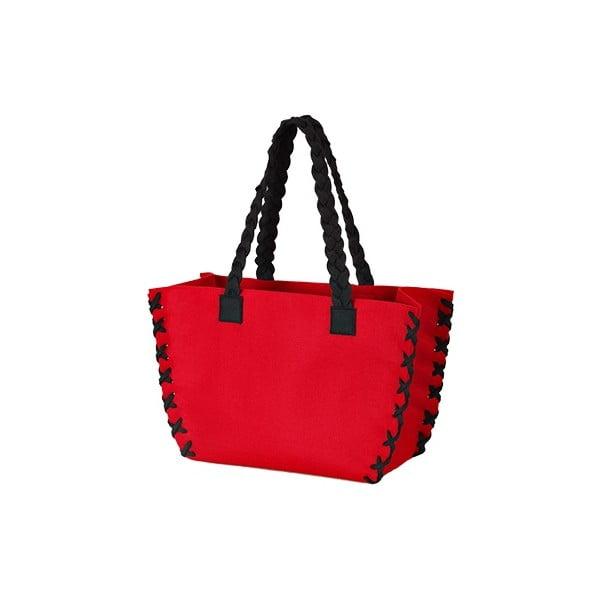 Mała filcowa torba, czerwona