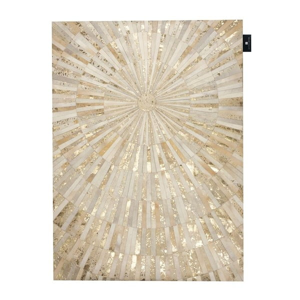 Skórzany dywan Sunshine, 170x240 cm