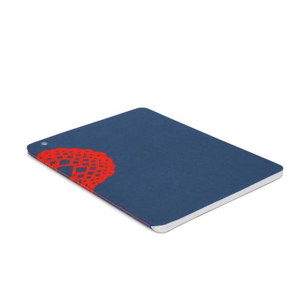 Notatnik Plumb, niebiesko-czerwony