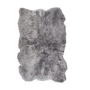 Szary dywan futrzany z krótkim włosiem Darte, 170x110cm