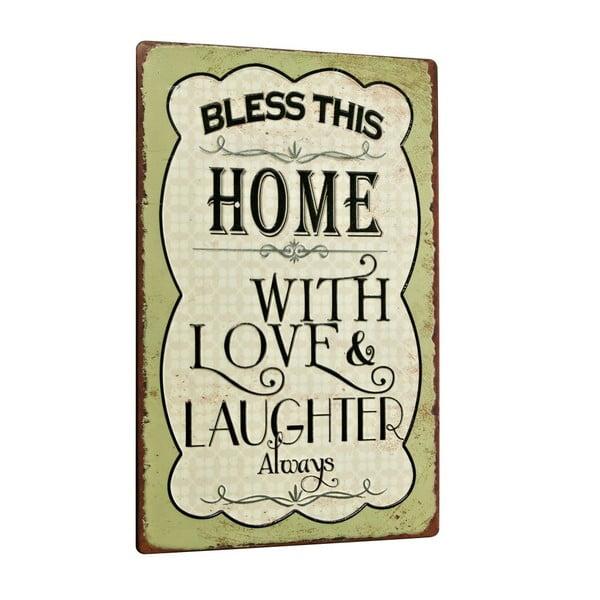Tablica Bless this home, 35x24 cm